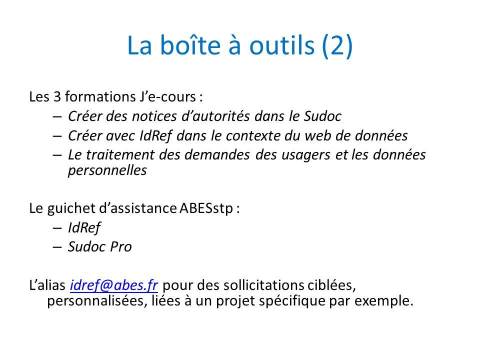 La boîte à outils (2) Les 3 formations J'e-cours :