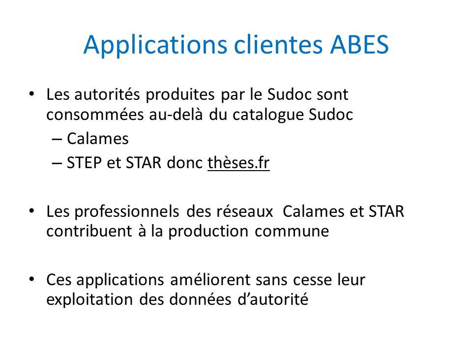 Applications clientes ABES