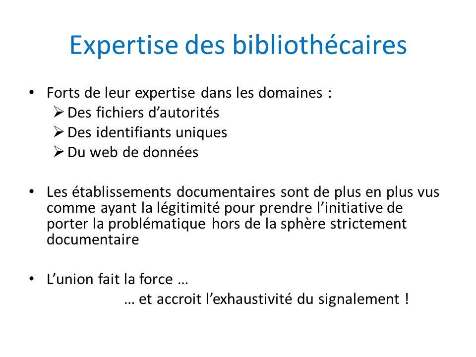 Expertise des bibliothécaires