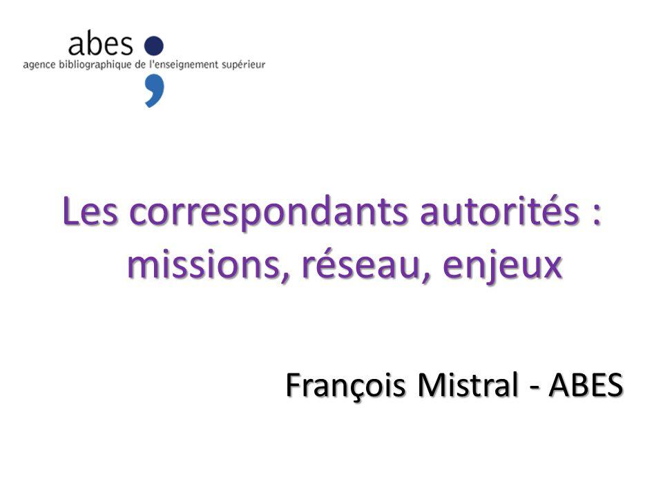 Les correspondants autorités : missions, réseau, enjeux