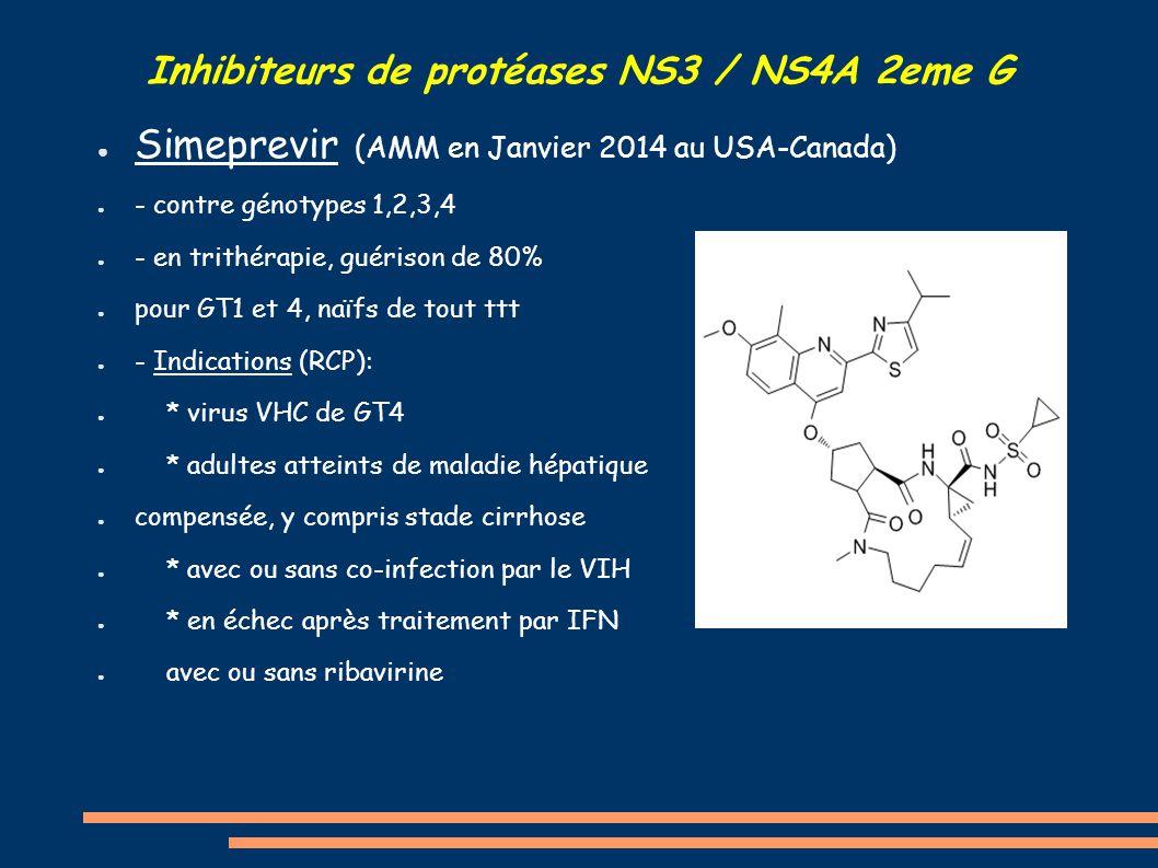 Inhibiteurs de protéases NS3 / NS4A 2eme G