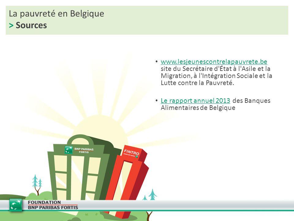 La pauvreté en Belgique > Sources