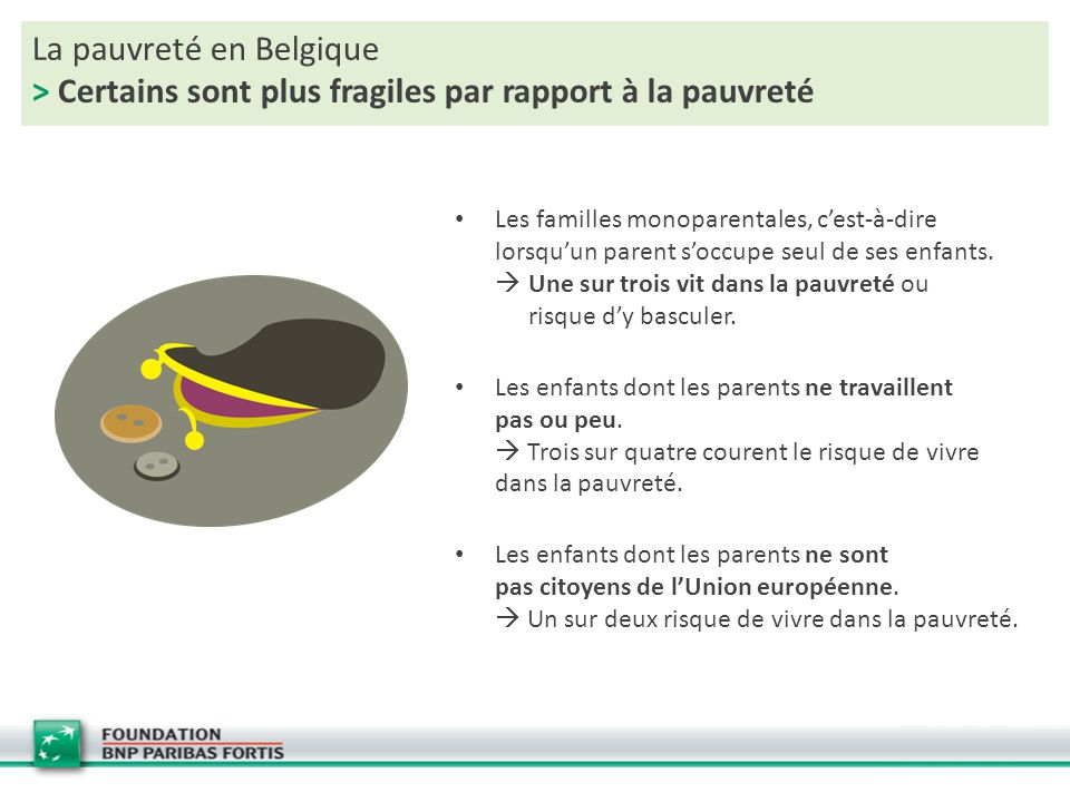 La pauvreté en Belgique > Certains sont plus fragiles par rapport à la pauvreté