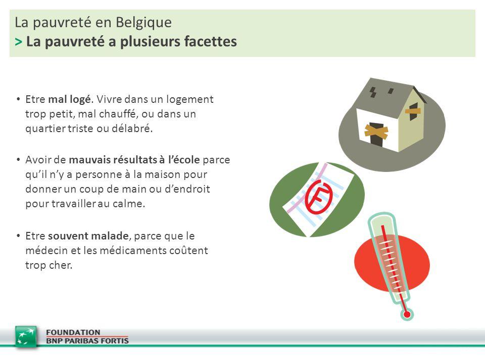 La pauvreté en Belgique > La pauvreté a plusieurs facettes