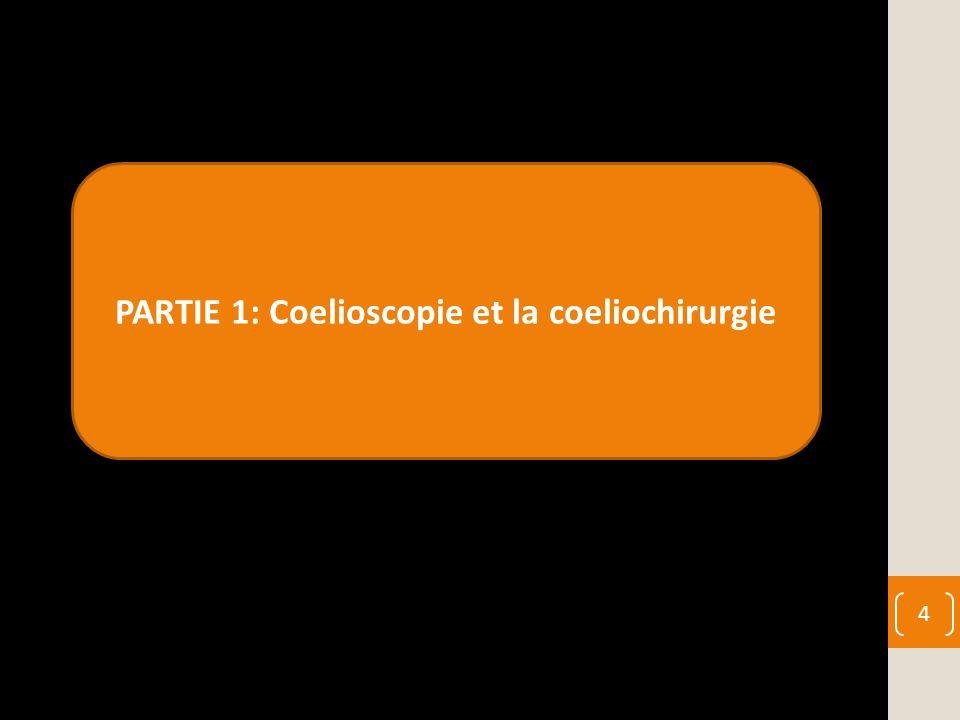 PARTIE 1: Coelioscopie et la coeliochirurgie