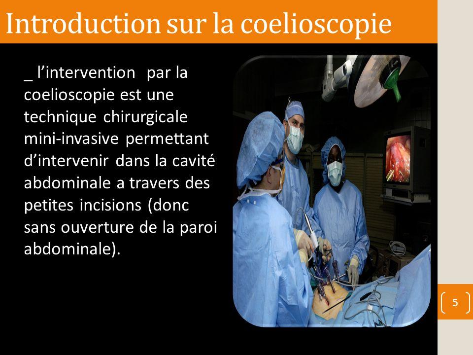 Introduction sur la coelioscopie