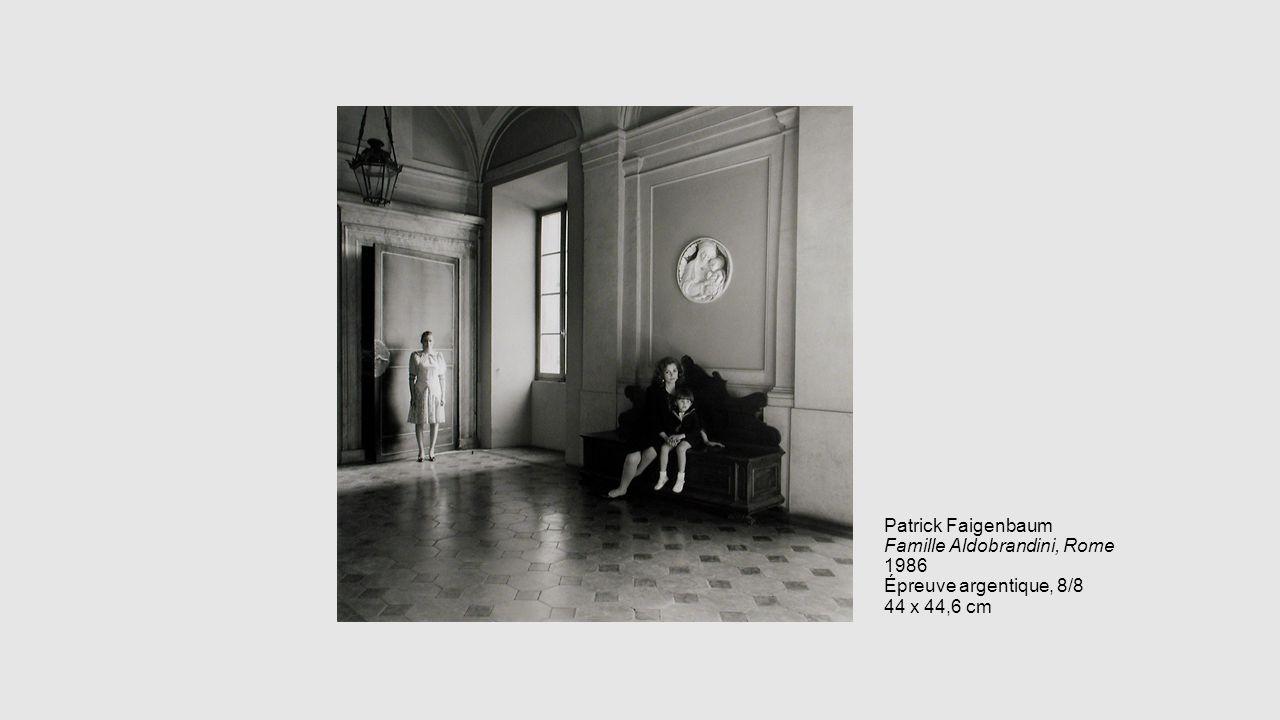 Patrick Faigenbaum Famille Aldobrandini, Rome 1986 Épreuve argentique, 8/8 44 x 44,6 cm