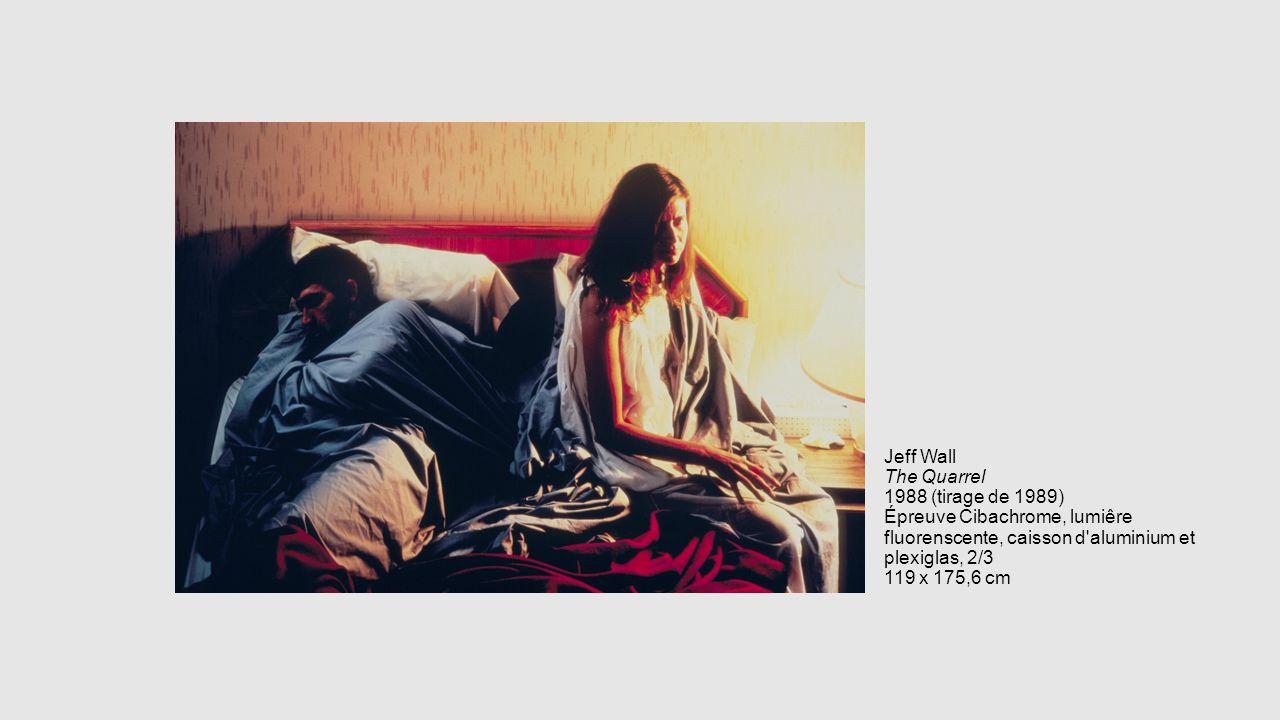 Jeff Wall The Quarrel 1988 (tirage de 1989) Épreuve Cibachrome, lumiêre fluorenscente, caisson d aluminium et plexiglas, 2/3 119 x 175,6 cm