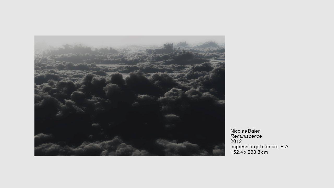 Nicolas Baier Réminiscence 2012 Impression jet d encre, E. A. 152