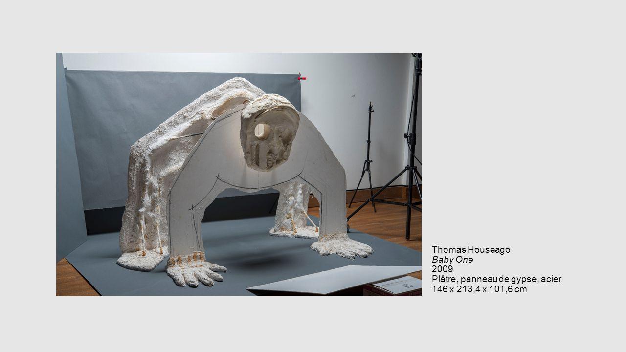 Thomas Houseago Baby One 2009 Plâtre, panneau de gypse, acier 146 x 213,4 x 101,6 cm