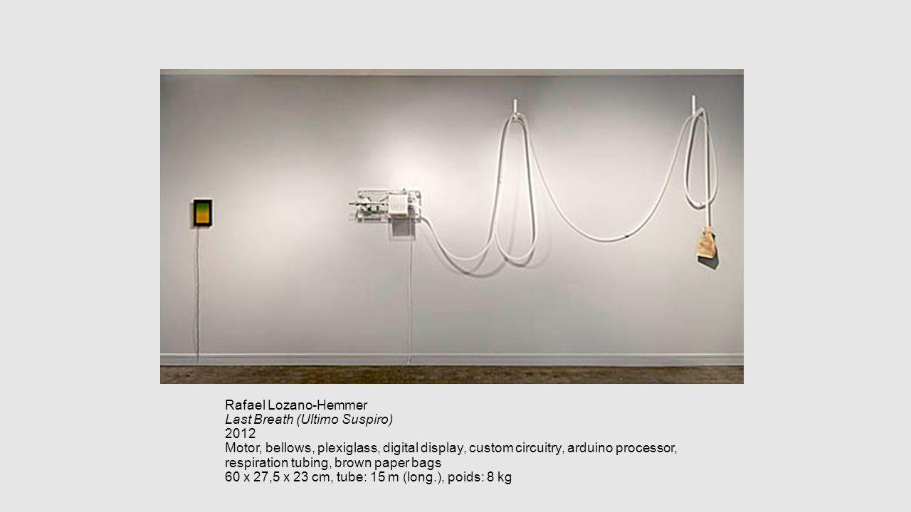 Rafael Lozano-Hemmer Last Breath (Ultimo Suspiro) 2012