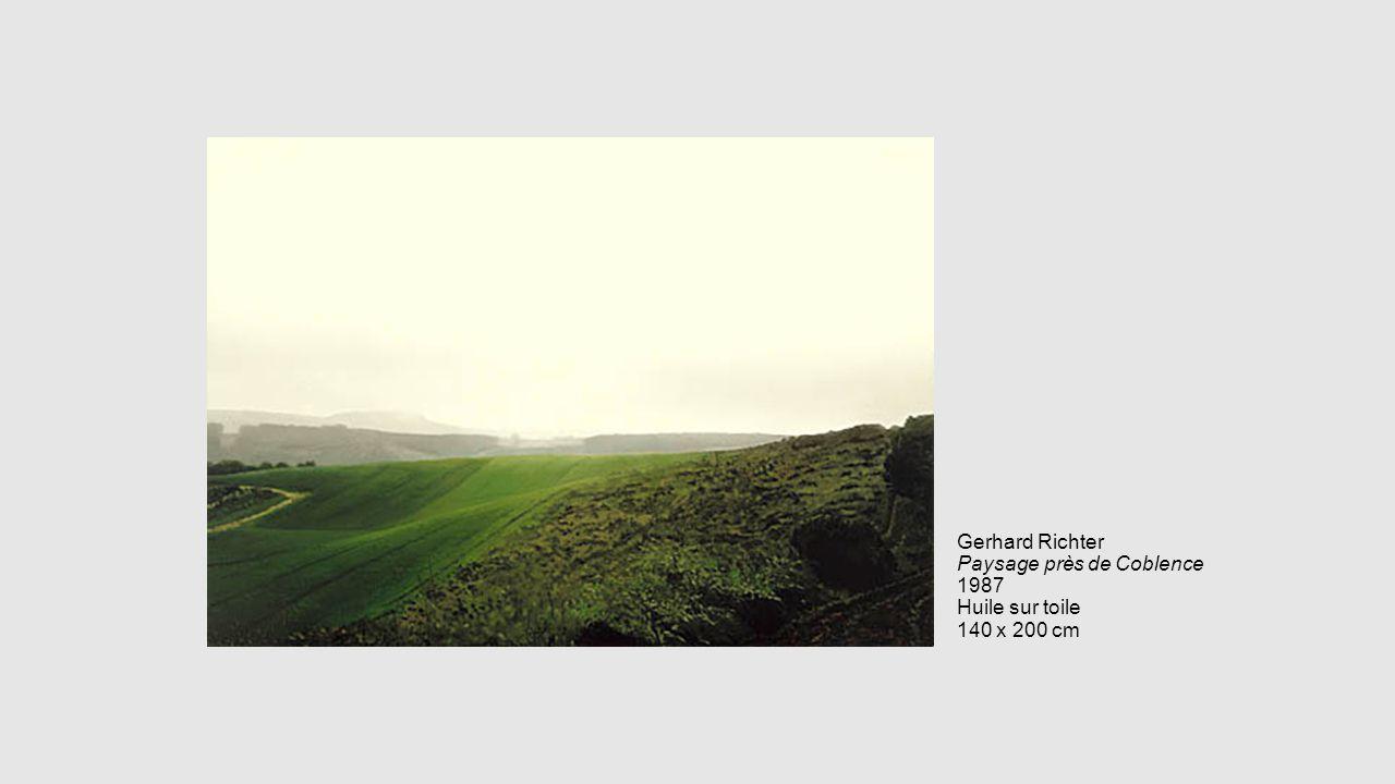 Gerhard Richter Paysage près de Coblence 1987 Huile sur toile 140 x 200 cm