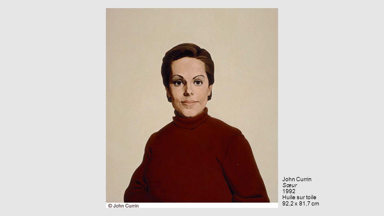 John Currin Sœur 1992 Huile sur toile 92,2 x 81,7 cm