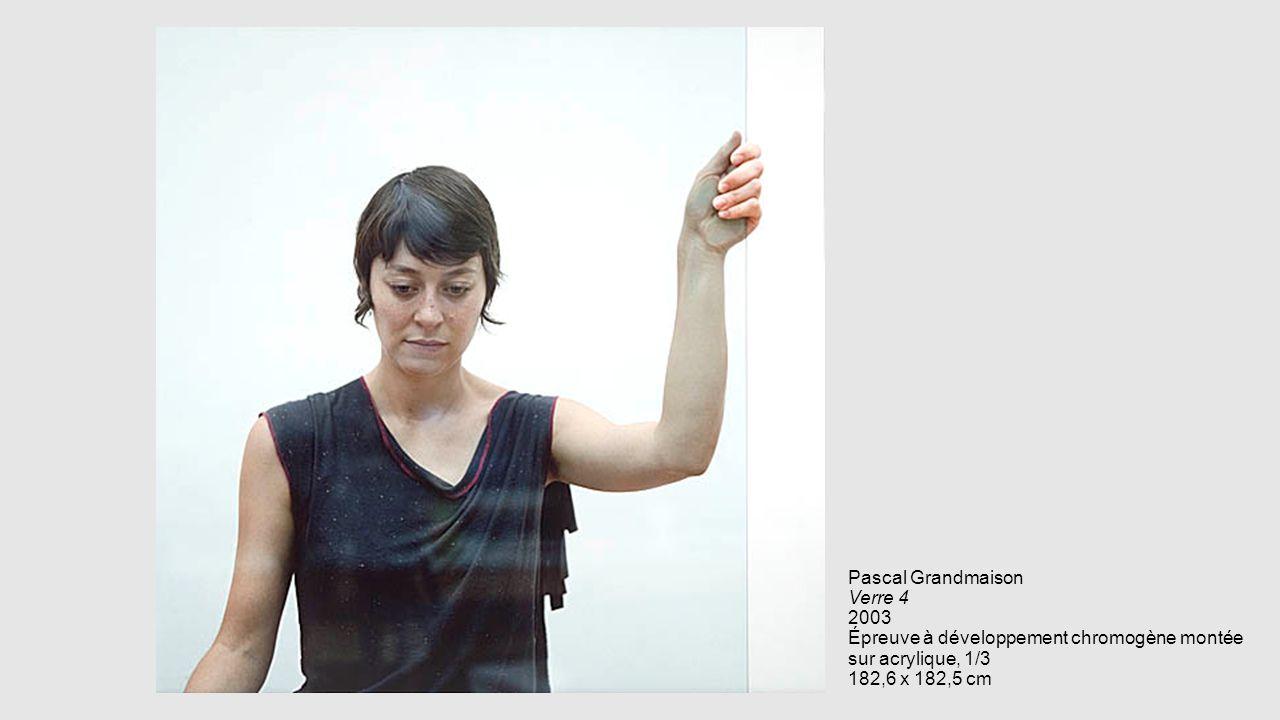 Pascal Grandmaison Verre 4 2003 Épreuve à développement chromogène montée sur acrylique, 1/3 182,6 x 182,5 cm