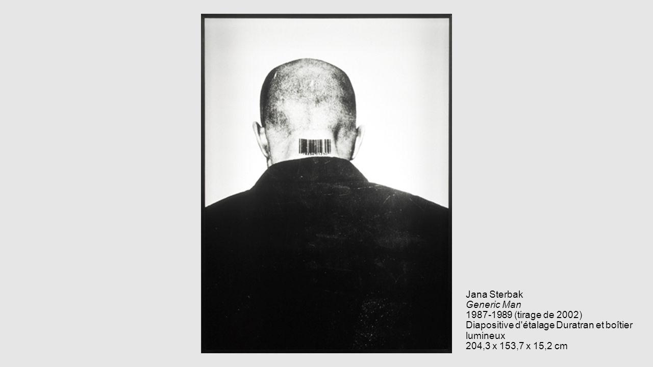 Jana Sterbak Generic Man 1987-1989 (tirage de 2002) Diapositive d étalage Duratran et boîtier lumineux