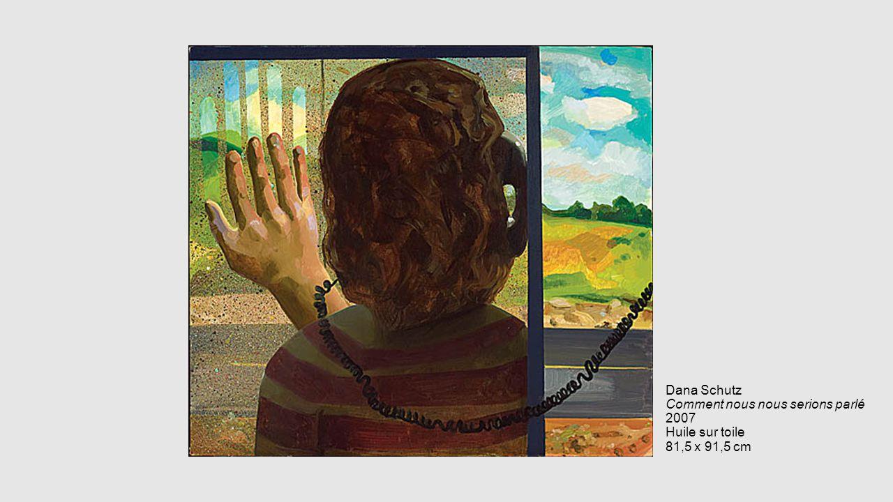 Dana Schutz Comment nous nous serions parlé 2007 Huile sur toile 81,5 x 91,5 cm