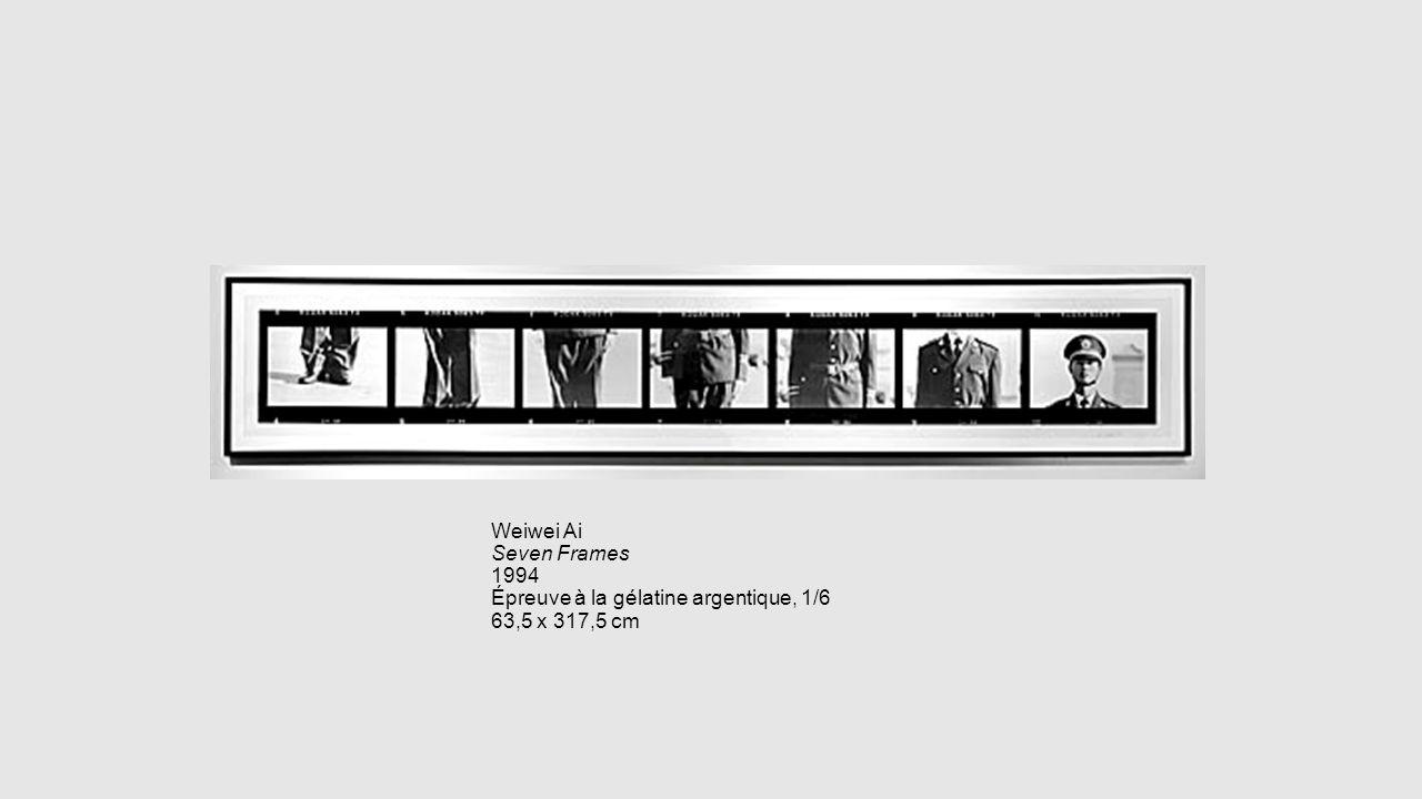 Weiwei Ai Seven Frames 1994 Épreuve à la gélatine argentique, 1/6 63,5 x 317,5 cm