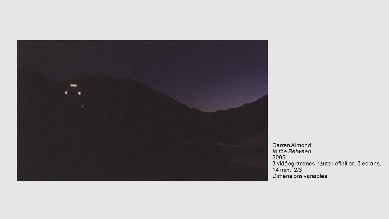 Darren Almond In the Between 2006 3 vidéogrammes haute définition, 3 écrans, 14 min., 2/3