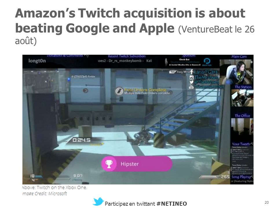 Amazon's Twitch acquisition is about beating Google and Apple (VentureBeat le 26 août)