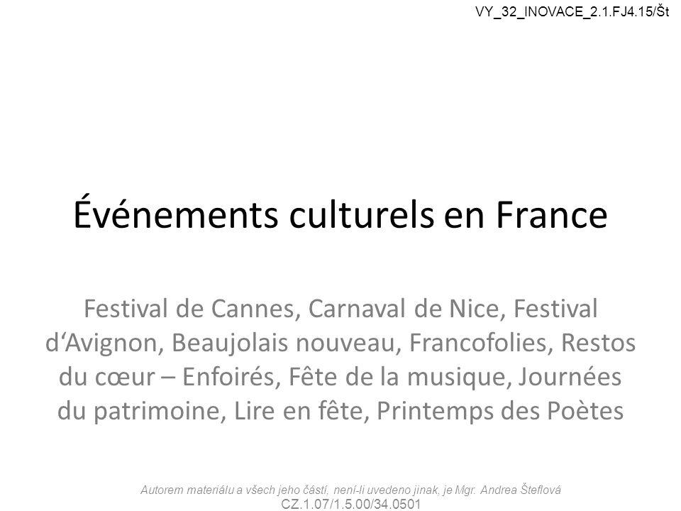 Événements culturels en France