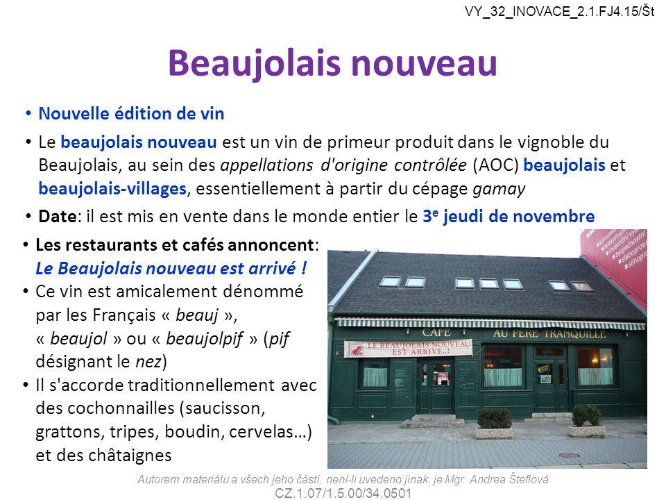 Beaujolais nouveau Nouvelle édition de vin