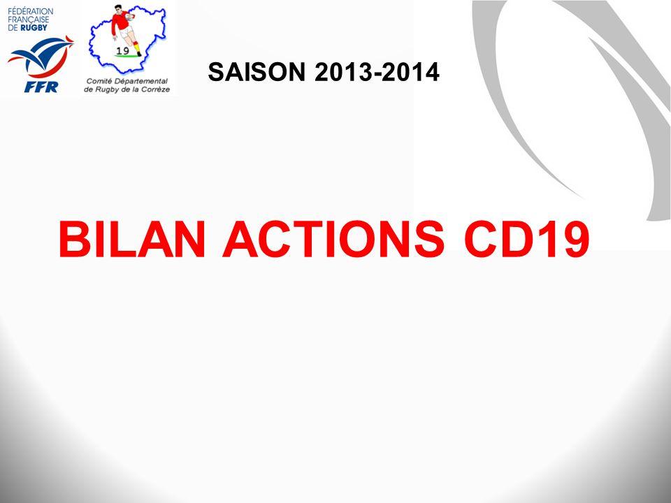 Saison 2013-2014 BILAN ACTIONS CD19
