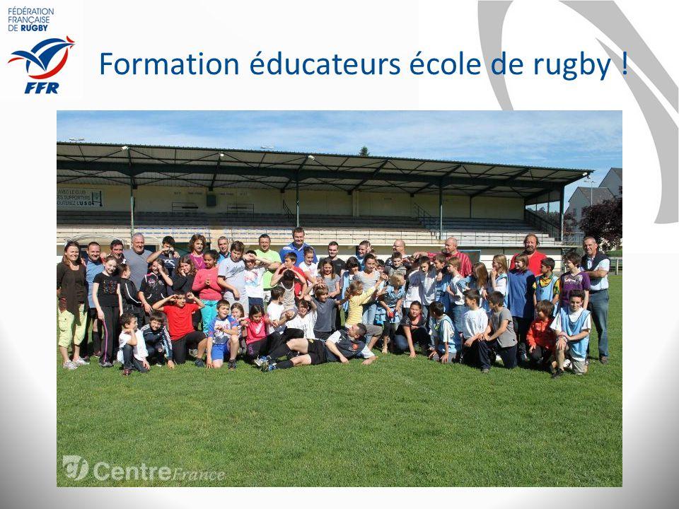 Formation éducateurs école de rugby !