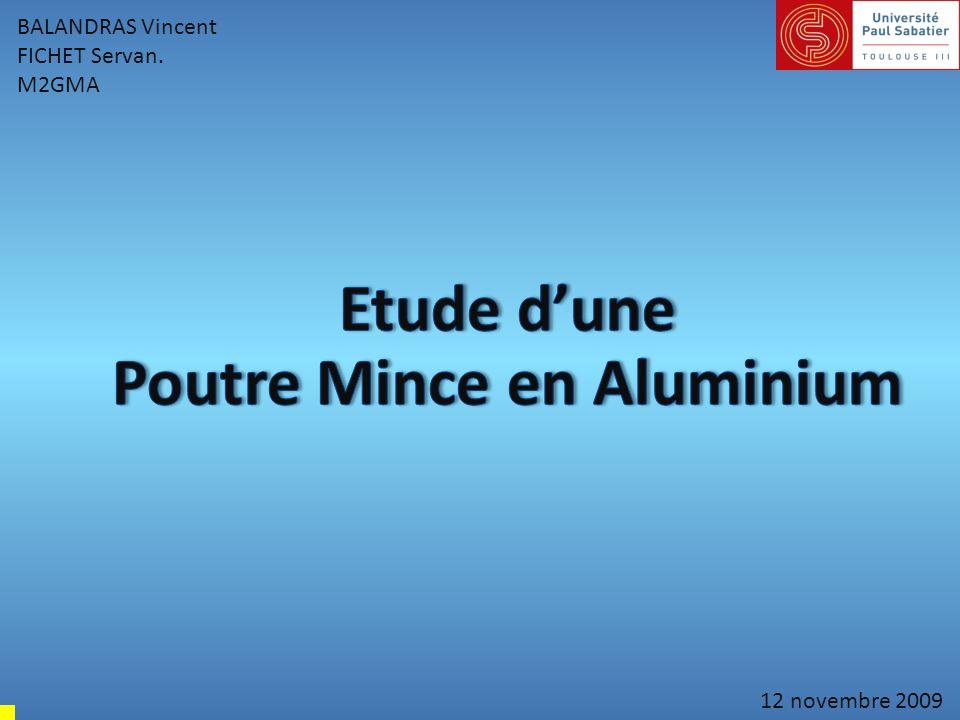 Poutre Mince en Aluminium