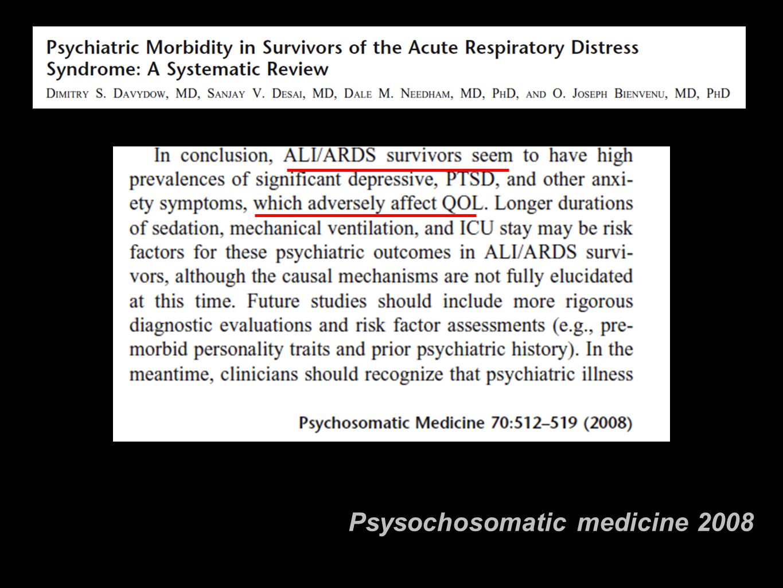 Psysochosomatic medicine 2008