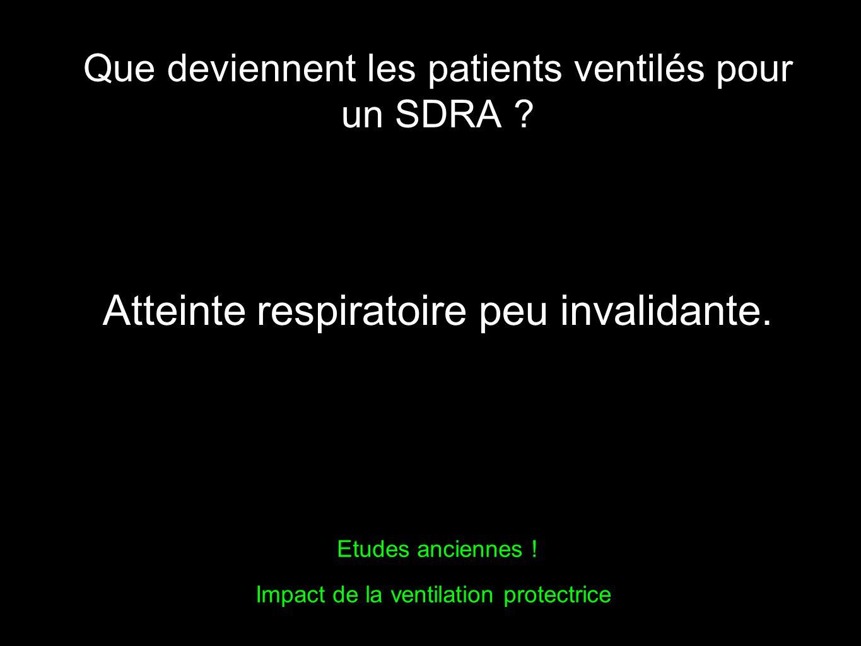 Que deviennent les patients ventilés pour un SDRA
