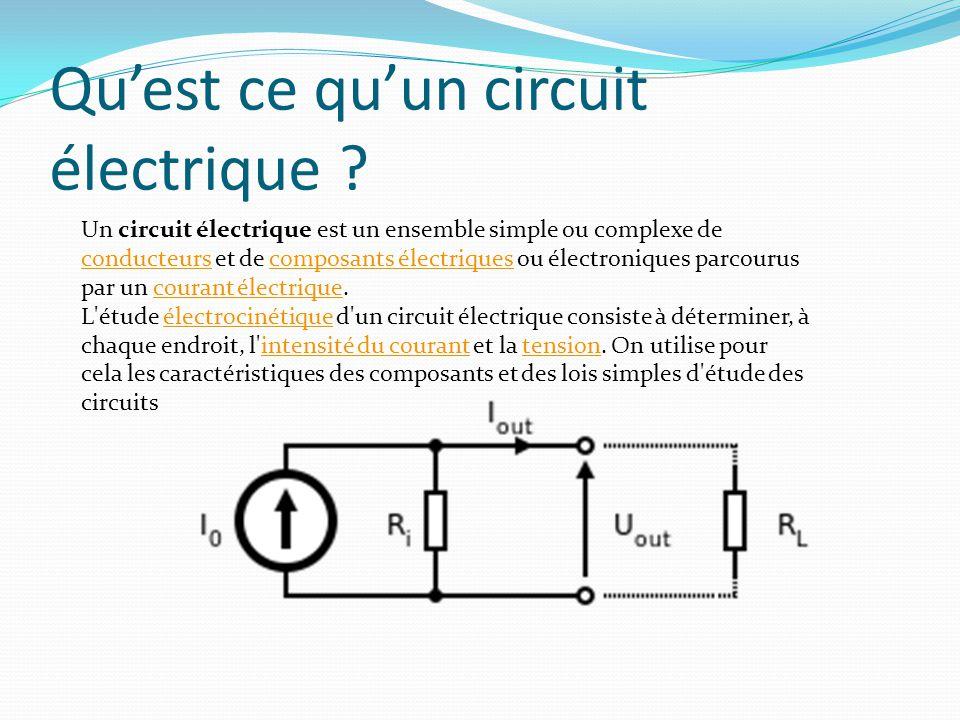 Qu'est ce qu'un circuit électrique