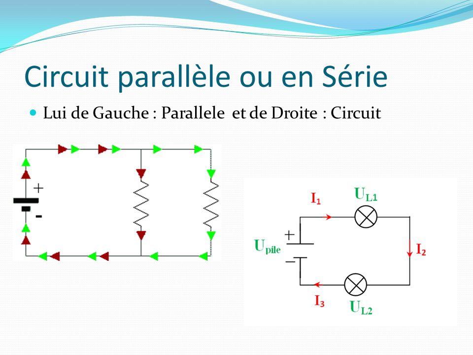 Circuit parallèle ou en Série
