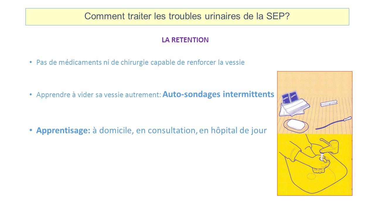 Comment traiter les troubles urinaires de la SEP