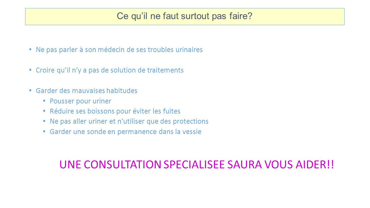 UNE CONSULTATION SPECIALISEE SAURA VOUS AIDER!!