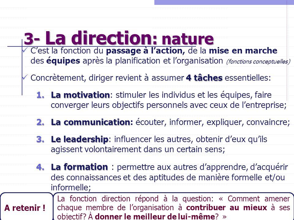 3- La direction: nature