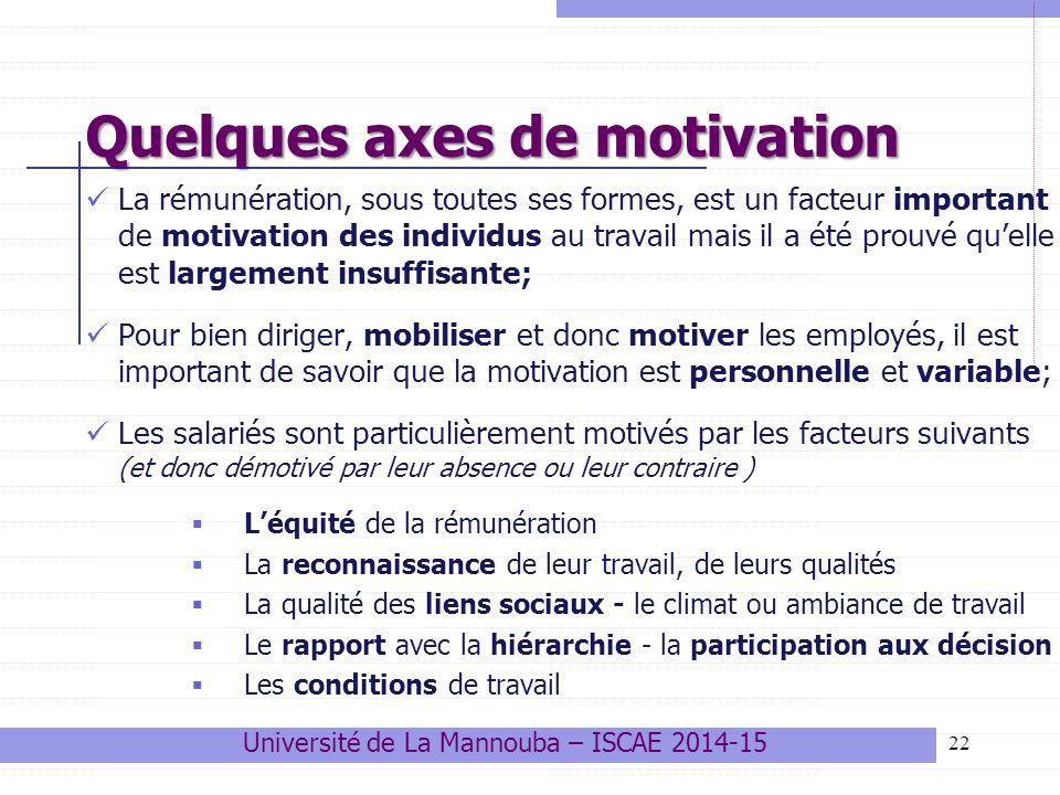 Université de La Mannouba – ISCAE 2014-15