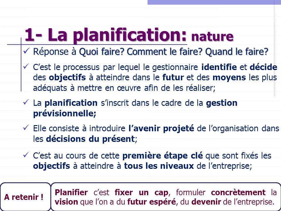 1- La planification: nature