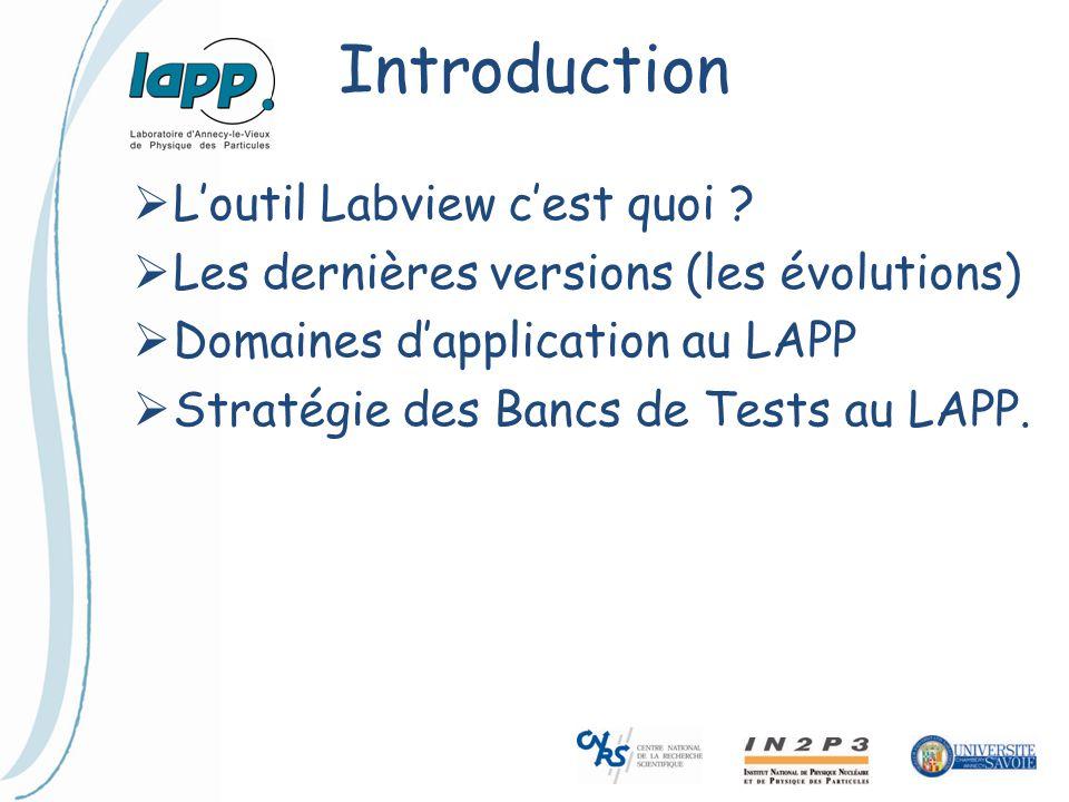 Introduction L'outil Labview c'est quoi