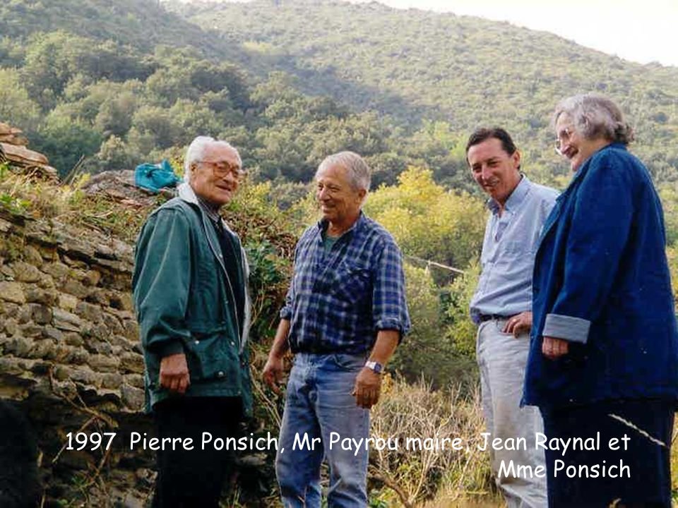 1997 Pierre Ponsich, Mr Payrou maire, Jean Raynal et Mme Ponsich