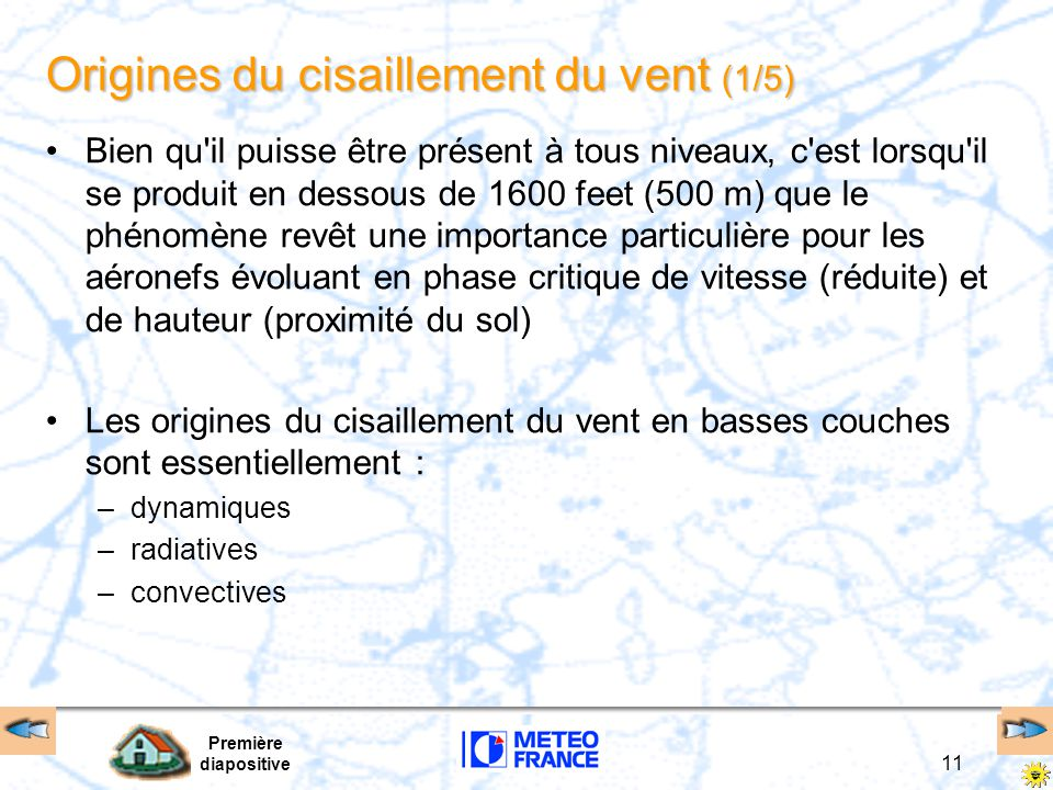 Origines du cisaillement du vent (1/5)