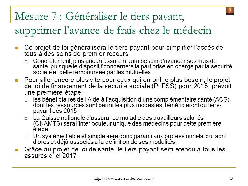 Mesure 7 : Généraliser le tiers payant, supprimer l'avance de frais chez le médecin