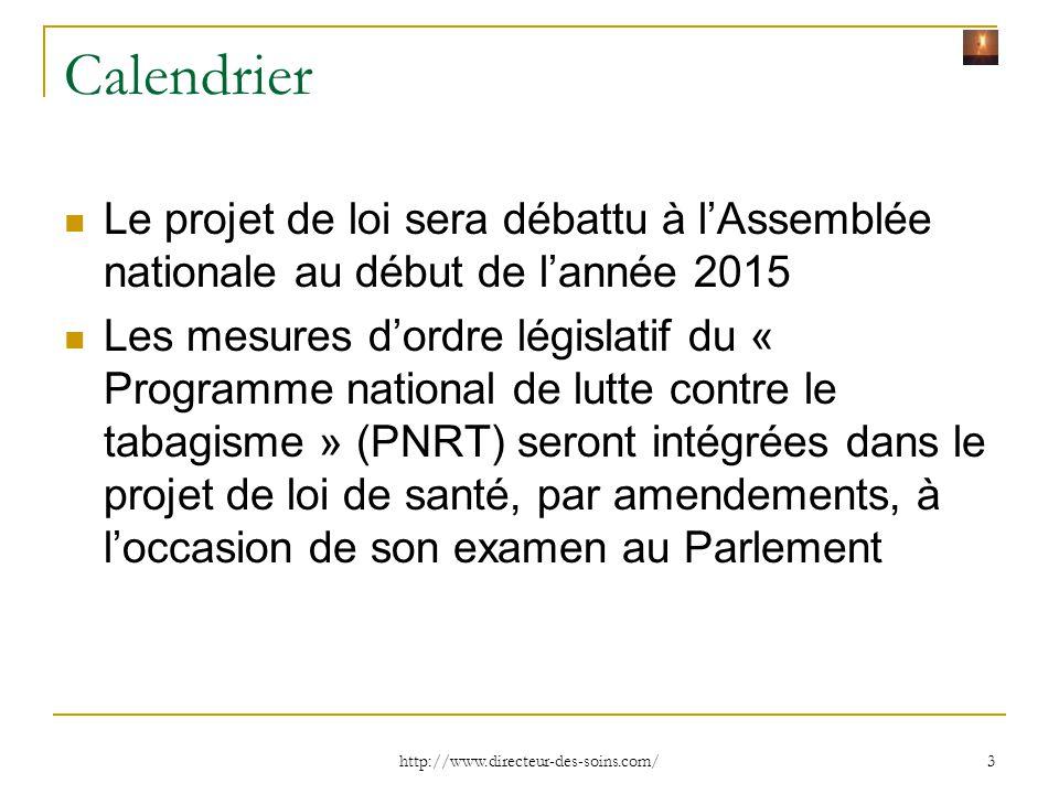 Calendrier Le projet de loi sera débattu à l'Assemblée nationale au début de l'année 2015.