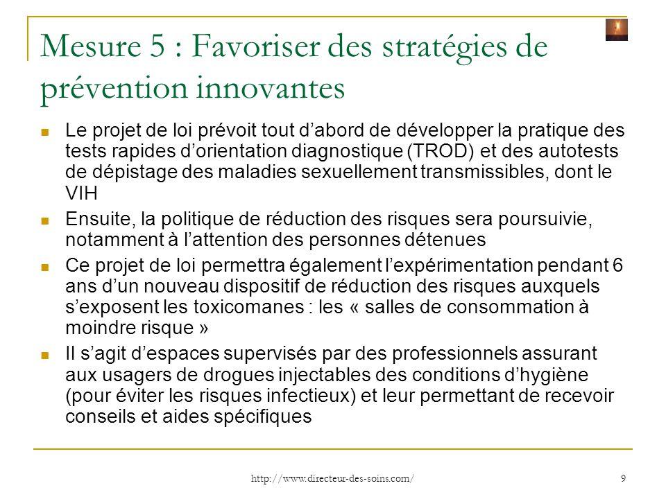 Mesure 5 : Favoriser des stratégies de prévention innovantes