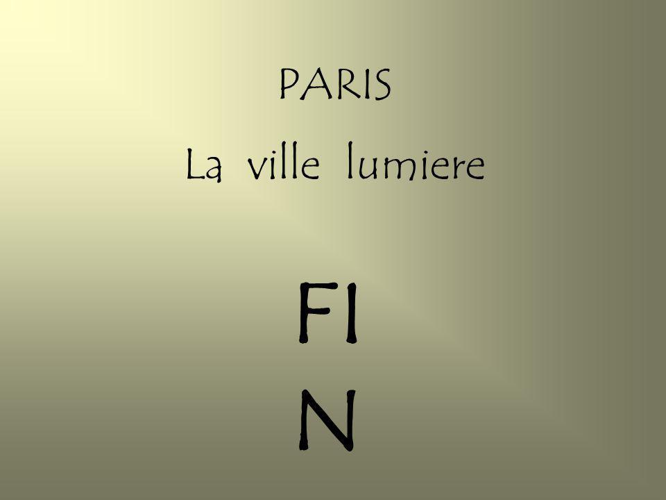 PARIS La ville lumiere FIN