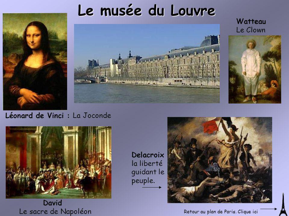 Le musée du Louvre Léonard de Vinci : La Joconde Watteau Le Clown