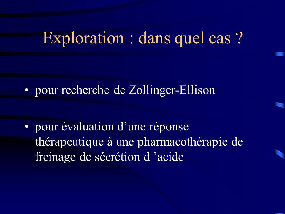 Exploration : dans quel cas