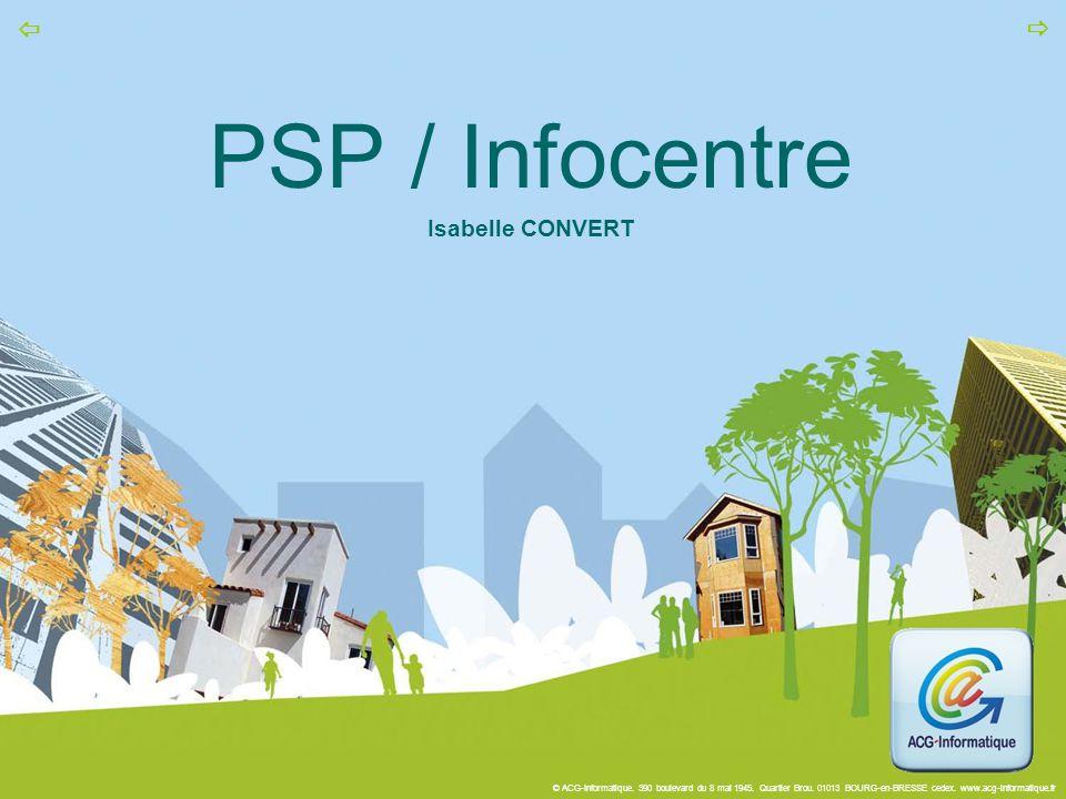 PSP / Infocentre Isabelle CONVERT