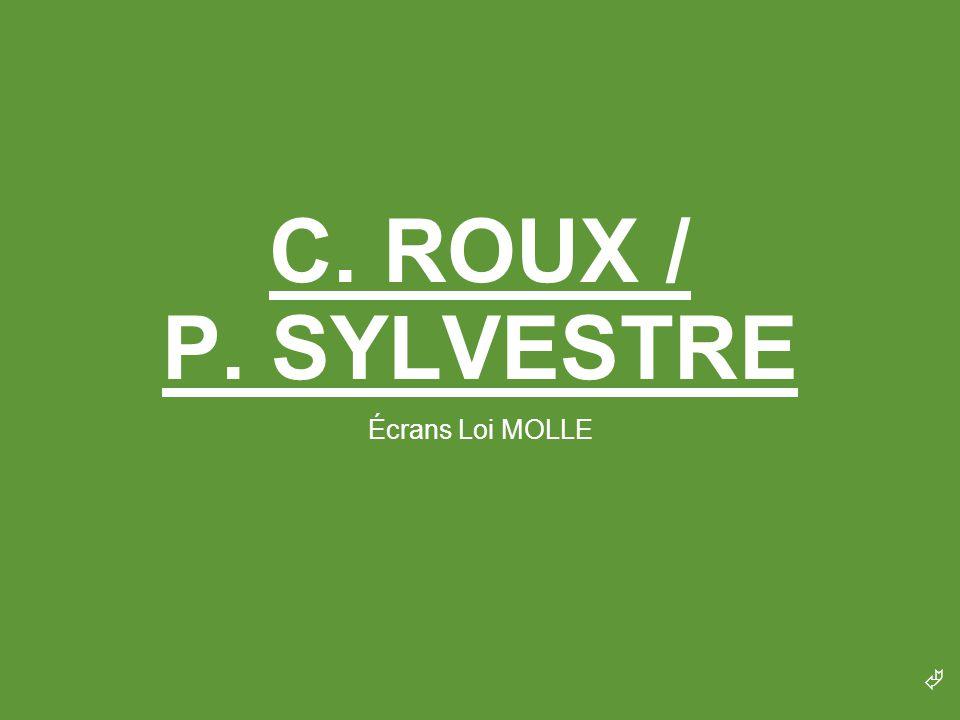 C. ROUX / P. SYLVESTRE Écrans Loi MOLLE