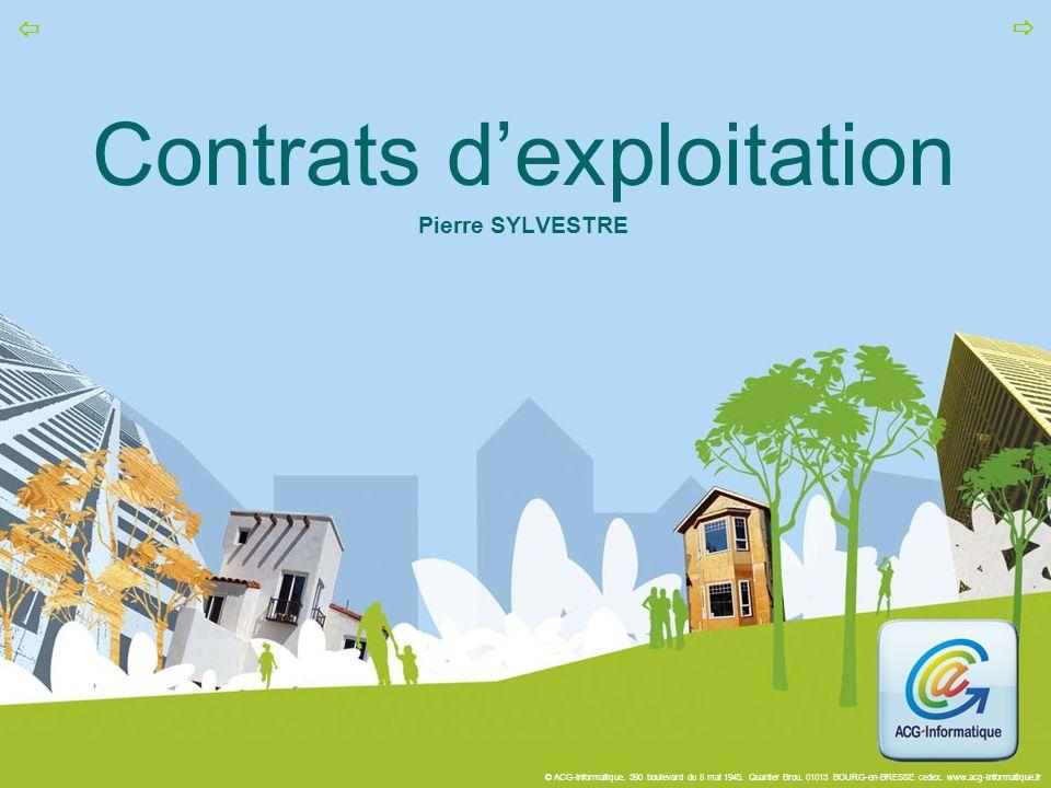 Contrats d'exploitation Pierre SYLVESTRE