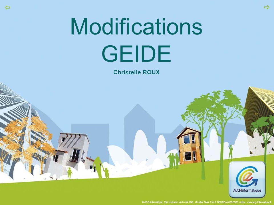 Modifications GEIDE Christelle ROUX